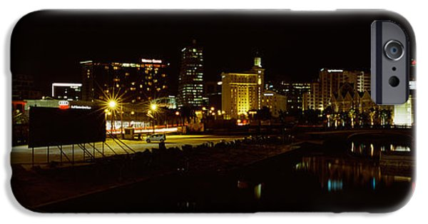 Cape Town iPhone Cases - City Lit Up At Night, Cape Town iPhone Case by Panoramic Images