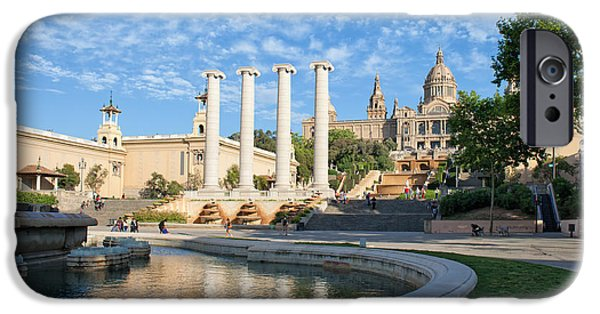 National Building Museum iPhone Cases - City of Barcelona Picturesque Scenery iPhone Case by Artur Bogacki