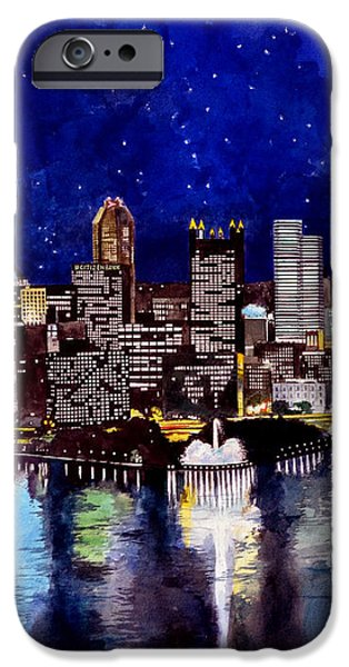 City of Pittsburgh Pennsylvania  iPhone Case by Christopher Shellhammer