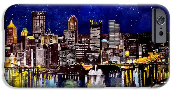 Babylon iPhone Cases - City of Pittsburgh at the Point iPhone Case by Christopher Shellhammer