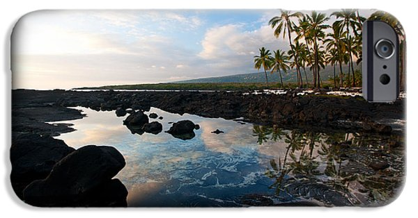 Big Island iPhone Cases - City of Refuge Beach iPhone Case by Mike Reid