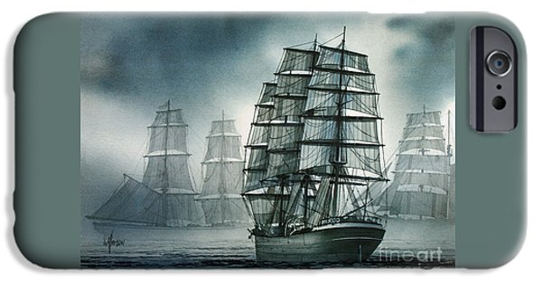 Tall Ship iPhone Cases - City of Ships iPhone Case by James Williamson