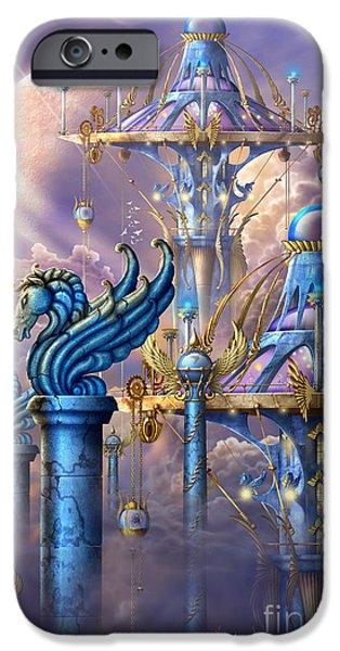 City of swords iPhone Case by Ciro Marchetti