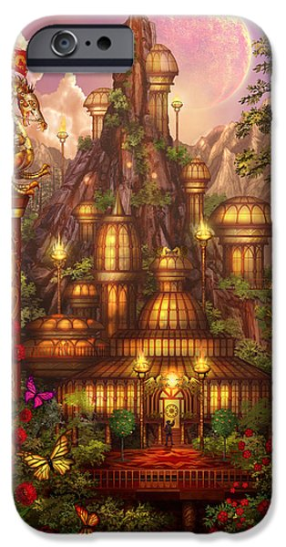 City Of Wands iPhone Case by Ciro Marchetti