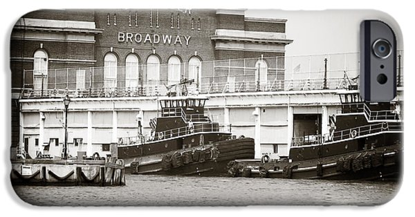 Brick Schools iPhone Cases - City Pier Broadway iPhone Case by John Rizzuto