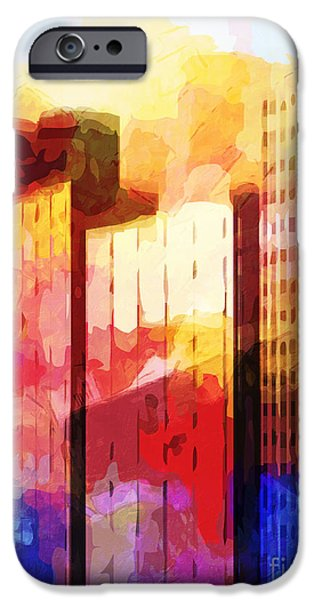 Recently Sold -  - Buildings Mixed Media iPhone Cases - City Pop iPhone Case by Lutz Baar