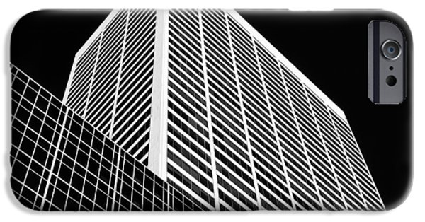 Geometric Design iPhone Cases - City Relief iPhone Case by Dave Bowman