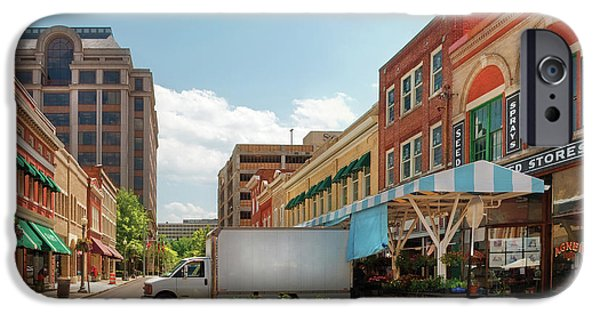 Store Fronts iPhone Cases - City - Roanoke VA - The City Market iPhone Case by Mike Savad