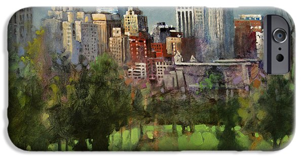 City Scape iPhone Cases - City Set on a Hill iPhone Case by Dan Nelson