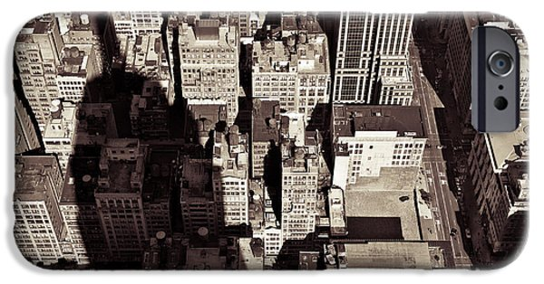 Empire State iPhone Cases - City Shadow iPhone Case by Dave Bowman