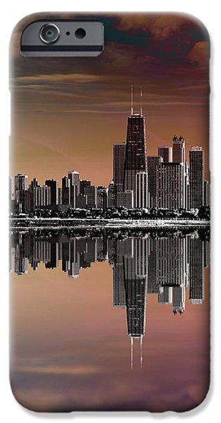 City Skyline Dusk iPhone Case by Bedros Awak