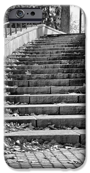 Downtown Stairs iPhone Cases - City Steps 1 iPhone Case by Angelina Vick