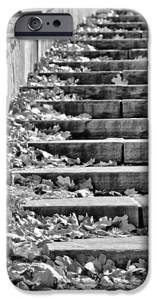 Downtown Stairs iPhone Cases - City Steps 2 iPhone Case by Angelina Vick