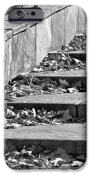 Downtown Stairs iPhone Cases - City Steps 3 iPhone Case by Angelina Vick