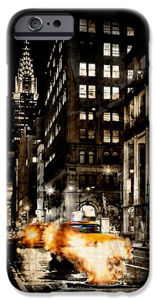 Smoking iPhone Cases - City Streets  iPhone Case by Az Jackson