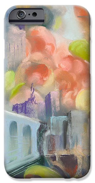 Abstractions Pastels iPhone Cases - City Sunrise iPhone Case by Paula Wild