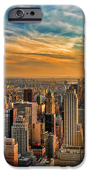 City Sunset New York City USA iPhone Case by Sabine Jacobs