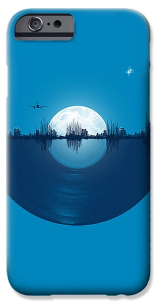 Night iPhone Cases - City tunes iPhone Case by Neelanjana  Bandyopadhyay