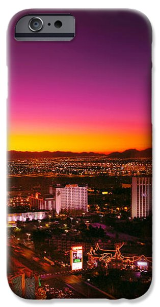 City - Vegas - NY - Sunrise over the city iPhone Case by Mike Savad