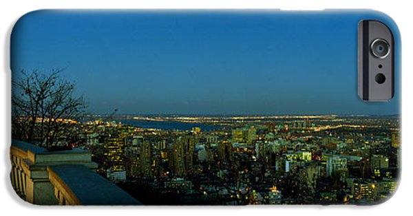 Observation iPhone Cases - City Viewed From An Observation Point iPhone Case by Panoramic Images