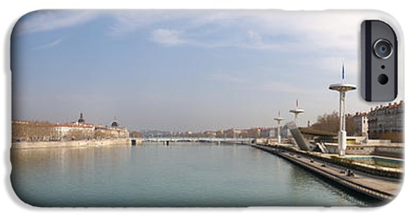 Rhone Alpes iPhone Cases - City Viewed From University Bridge iPhone Case by Panoramic Images