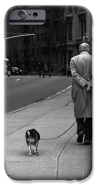 Raincoat iPhone Cases - City Walk iPhone Case by Diane Diederich
