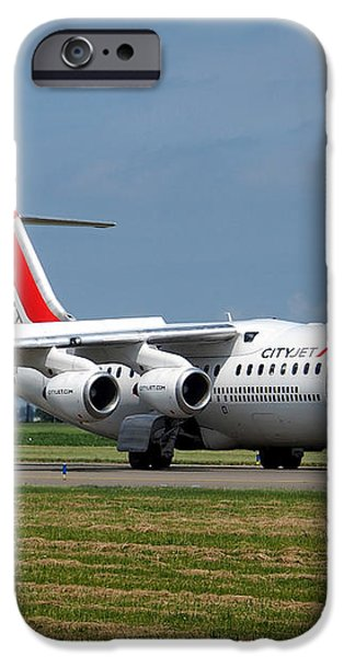 Cityjet British Aerospace Avro RJ85 iPhone Case by Paul Fearn