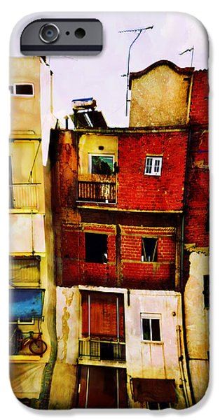 Balcony iPhone Cases - Citys Stories 2 iPhone Case by Antonis Gourountis