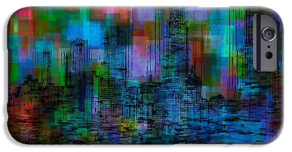 Painter Photo Digital Art iPhone Cases - Cityscape 5 iPhone Case by Jack Zulli