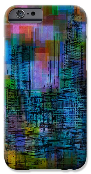 Cityscape 5 iPhone Case by Jack Zulli