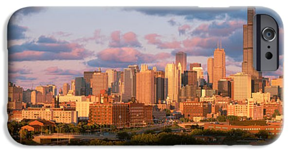 Finance iPhone Cases - Cityscape, Day, Chicago, Illinois, Usa iPhone Case by Panoramic Images