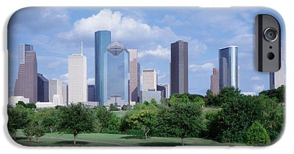 Pathway iPhone Cases - Cityscape, Houston, Tx iPhone Case by Panoramic Images