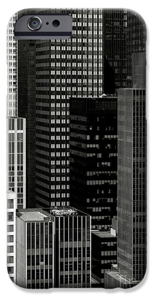 Cityscape in Black and White iPhone Case by Diane Diederich