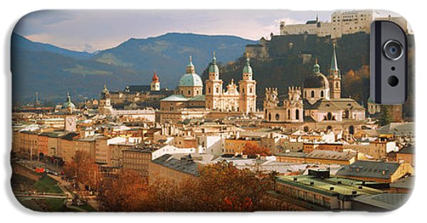 Salzburg iPhone Cases - Cityscape Salzburg Austria iPhone Case by Panoramic Images