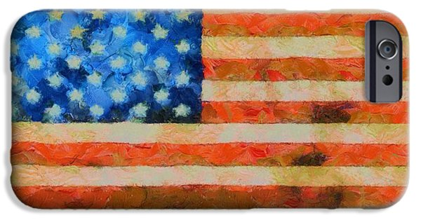 The Houses Mixed Media iPhone Cases - Civil War Flag iPhone Case by Dan Sproul