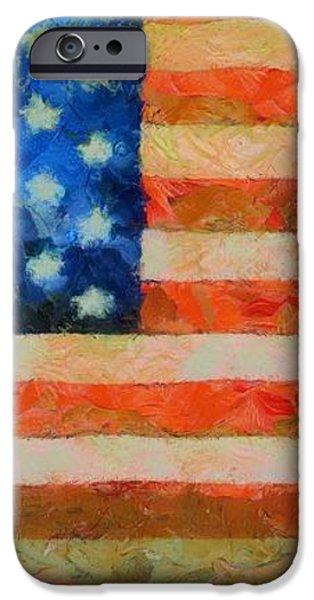 Civil War Flag iPhone Case by Dan Sproul