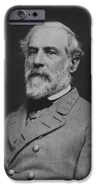 Confederacy iPhone Cases - Civil War General Robert E Lee iPhone Case by War Is Hell Store