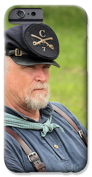 Power iPhone Cases - Civil War guy iPhone Case by Dwight Cook