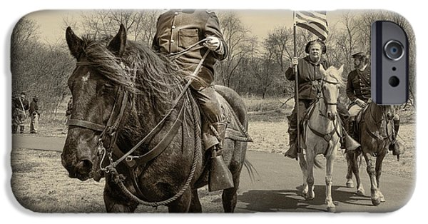 Civil War Re-enactment iPhone Cases - Civil War photo no. 29 iPhone Case by Michael Sage Friean