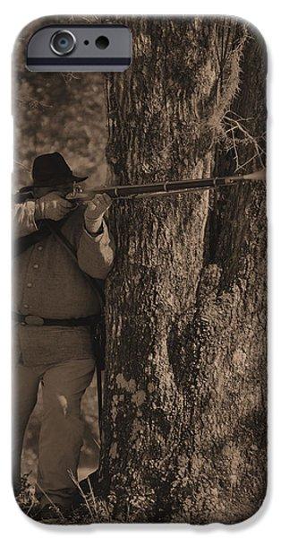 Historical Re-enactments iPhone Cases - Civil War Re Enactment 1 iPhone Case by Jocelyn Stephenson