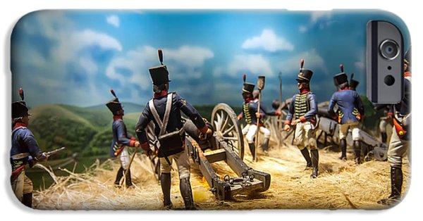 Historical Re-enactments iPhone Cases - Civil War Reenactment Figures iPhone Case by Alexandr Grichenko