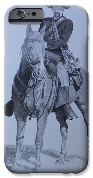 Mango Drawings iPhone Cases - Civil War Soldier  iPhone Case by David Ackerson