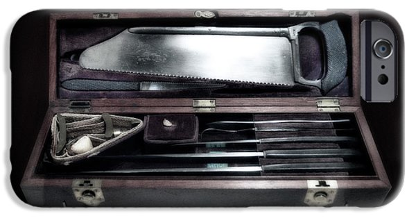 Confederate Hospital iPhone Cases - Civil War Surgical Kit iPhone Case by Thomas Woolworth