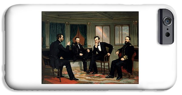 Lincoln iPhone Cases - Civil War Union Leaders -- The Peacemakers iPhone Case by War Is Hell Store