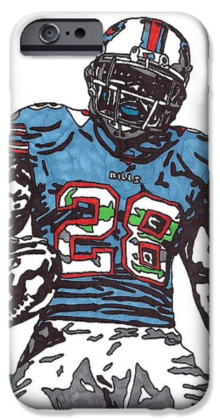 CJ Spiller iPhone Case by Jeremiah Colley