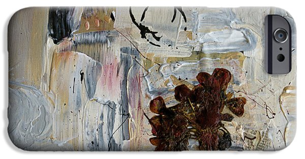 Nature Abstracts iPhone Cases - Clafoutis d Emotions - p06at01 iPhone Case by Variance Collections