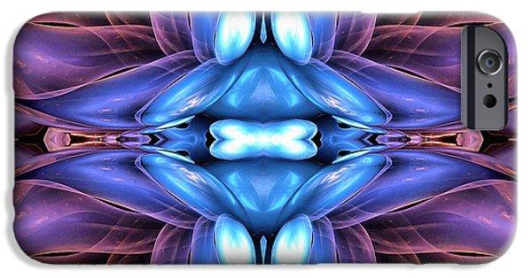 Poetic Mixed Media iPhone Cases - Claire De Lune  iPhone Case by Georgiana Romanovna