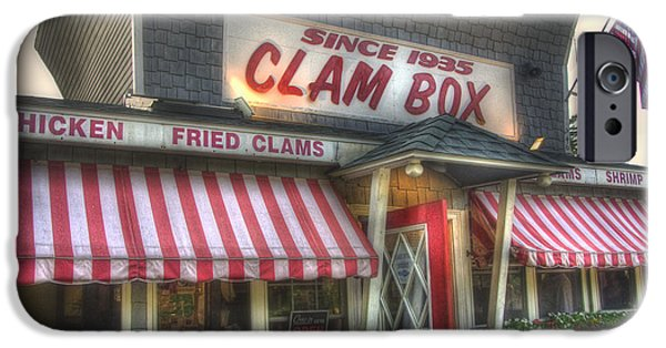 Local Attraction iPhone Cases - Clam Box Restaurant - Ipswich MA iPhone Case by Joann Vitali