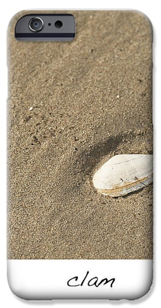 Clam  iPhone Case by Artist and Photographer Laura Wrede