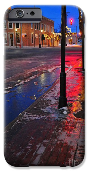 Clare Michigan iPhone Cases - Clare Michigan at Christmas 10 iPhone Case by Terri Gostola